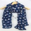 100% Polyester Print Sheep Scarf for Women Fashion Accessory Yiwu Purchasing Agent