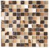 Brown Glass Art Glass Mosaic Mix Stone Mosaic