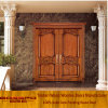 Antique Carved Doors Solid Oak Wood Made Main House Door for Villa (XS1-017)
