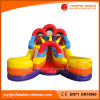 Inflatable Marble Flame Slide Double Lane Dry Slide (T4-410)