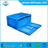 Square PP Plastic Crates Stackable Turnover Box with Lid