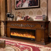European Wood Hotel Furniture Heater Electric Fireplace with Ce Certificate (328S)