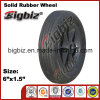 6X1.5 Elastic Rubber Caster Wheel