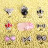 100PCS Nail Art Decoration Alloy Jewelry Colorful Glitter Rhinestone Shiny Bow