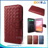 Weaving Grain Flip Leather Mobile Phone Case for Bq Aquaris M5.5