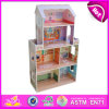 2014 New Cute Kids Wooden Doll House, Popular Lovely Children Wooden Doll House, Fashion DIY Wooden Doll House Factory W06A080