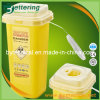 2.0L Medical Disposable Plastic Sharps Box for Hospital