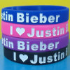 I Love Justtin Bieber Silicone Wristbands