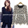 Lady Lace Long Sleeve Korean Fashion Skirt Blouse Wholesale/Tops (S129005)