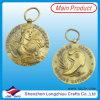 France Antique Golden Keyring Medal/Medallion Souvenir 3D Coin Pendent Custom Metal Keychain Medal (201300155)