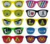Custom Logo Printing Sunglasses with Sticker Logo Printing Lens