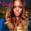 "22"" 8A Body Wave Ombre Hair Human Hair Extension 1b/4/27"