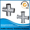 Side Outlet ((right hand or left hand) Stainless Steel Tee Cross for Plumbing Hot Water Pipe Line