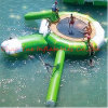 0.9mm PVC Inflatable Water Trampoline Combo with Slide