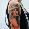 Fashionable Smoking Girl Temporary Tattoo Sticker Art Tattoo Sticker