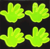 PVC Popular Hand Shape Safety Reflective Sticker