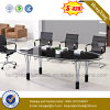 Black Office Desk Painting Office Furniture Metal Meeting Table (NS-GD053)