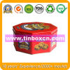 Octagonal Chocolate Cookie Tin with Food Grade, Biscuit Tin Can