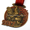 Customized Rooster Metal Medal for 2017 Chinese New Year