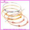 Wholesale Cheap Expandable Wire Bangle Gold Adjustable Cable Women′s Bracelet (IJB0313)