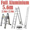 5.6m Full Aluminium 2 in 1 Telescopic Ladder