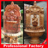 Carved Beige Marble Stone Outdoor Wall Fountains for Garden