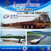 Tri Axles 45meters Flatbed Wind Blade Trailer, Extendable Low Bed Trailer for Sale