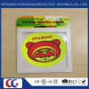 Promotion Smile Face PVC Light Reflective Stickers