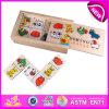 2015 Play Wooden Domino Blocks for Kids, Cheap Animal Domino Blocks for Children, Wooden Dominoes Building Blocks Toys Wj277610