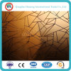 4-8mm Yellow Float Glass / Golden Decorative Construction Glass