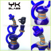 Glass Water Pipes Bubbler for Herb with Black Glass Bowl