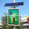 Solar Lamp Pole Scrolling Advertising Light Box