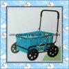 Plastic Tray Steel Frame Shopping Cart