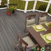 Outdoor Use Waterproof HDPE Wood Composite Floor