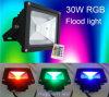 Outdoor Waterproof IP65 10W/20W/30W/50W RF Remote RGB LED Flood Light