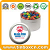 Round Tin Box with Transparent Window Lid for Chocolate Candy