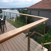 304 Stainless Steel Post Tempered Glass Balcony Railing Design