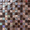 Crystal Glass Mixed Stone and Iridescent Anaglyph Glass Mosaic Tile (KS010)