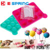 12 Cavity Round Shape Pops Lollipop Baking Tray Maker Silicone Candy Molds