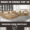 Divany Leather Sectional Sofa for Living Room with LED Lights