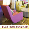 Pink Accent Chair Lounge Seating Sofa Furniture for 5 Star Hotel Lobby