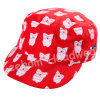 (LM14005) Microfiber Peach Embroidery Fashion Baby Kids Army Military Hat Cap