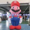 Customized Funny Christmas Mario Inflatable Cartoon/Inflatable Advertising Model