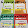Adhesive Sticker Oral Tablet Label with Silver Color Printing Stamp