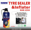 Tire Repair Sealer and Inflator, Quick Repair Sealer and Inflator for Vehicle Tires