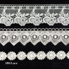 Milk Silk Water Soluble Chemical Polyester Lace Trim for Dresses Flower Pattern L099