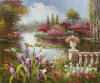 Mediterranean Landscape Oil Painting on Canvas (LH395000)