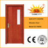 Commercial Veneered Wood Panel Door with Glass (SC-W098)