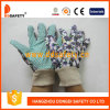 Ddsafety 2017 Women′s Flower Design Garden Gloves with Green Dots on Palm