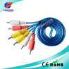 Transparent Blue 3 RCA to 3RCA Audio Video Cable